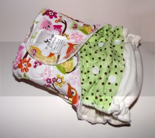 Mint Chocolate Owls Mash Up &lt;br&gt; One Size Snapping Fitted Diaper