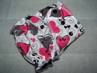 Swirly Hearts Serged &lt;br&gt; One Size Fitted with Cotton Velour